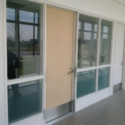 glass cut out new door